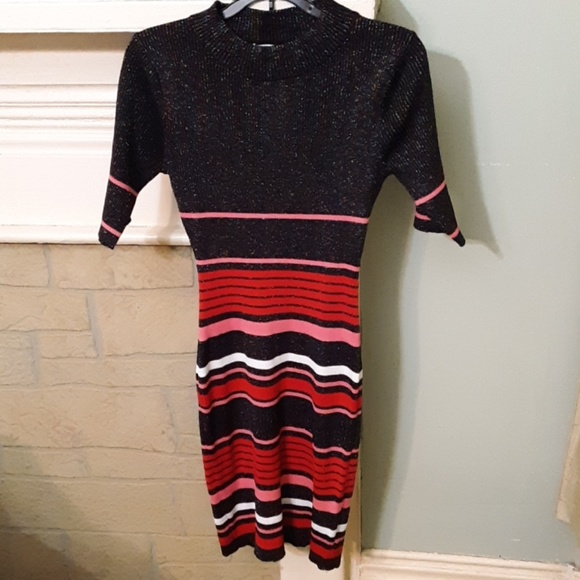 Say What? Dresses & Skirts - Say What Stripe Midi Stretch Dress Sz L